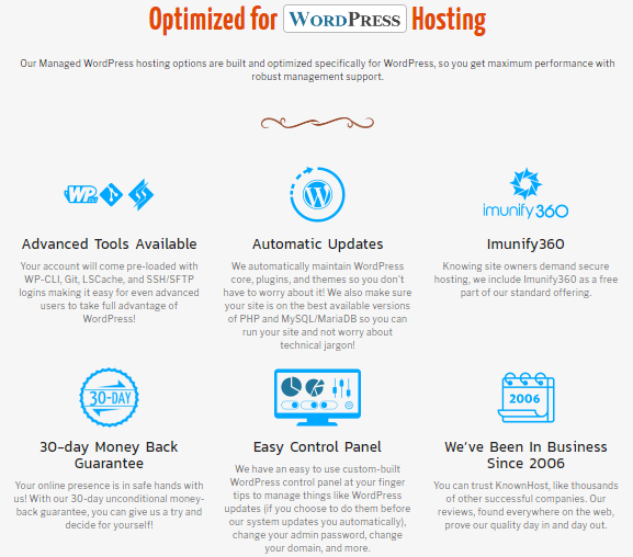 knownhost managed wordpress