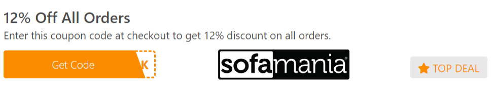 12% Off All Orders Sofamania