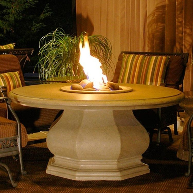 Chat Height Octagon Fire Pit Table