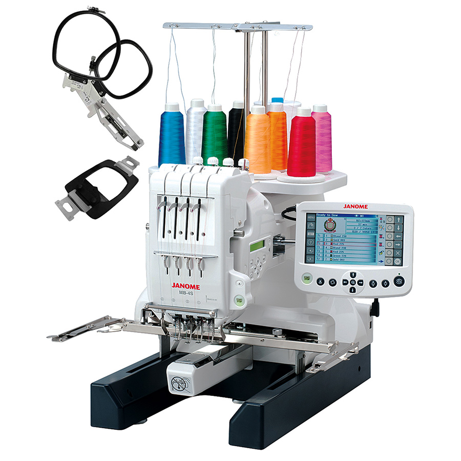 janome mb 4s four needle embroidery machine