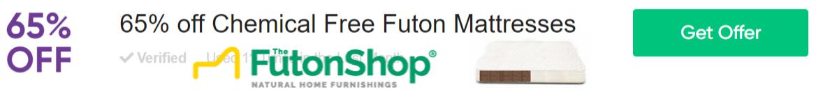 65% Off Chemical Free Futon Mattresses