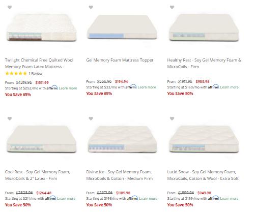 gel memory foam futon mattresses
