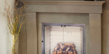 legend all glass fireplace door