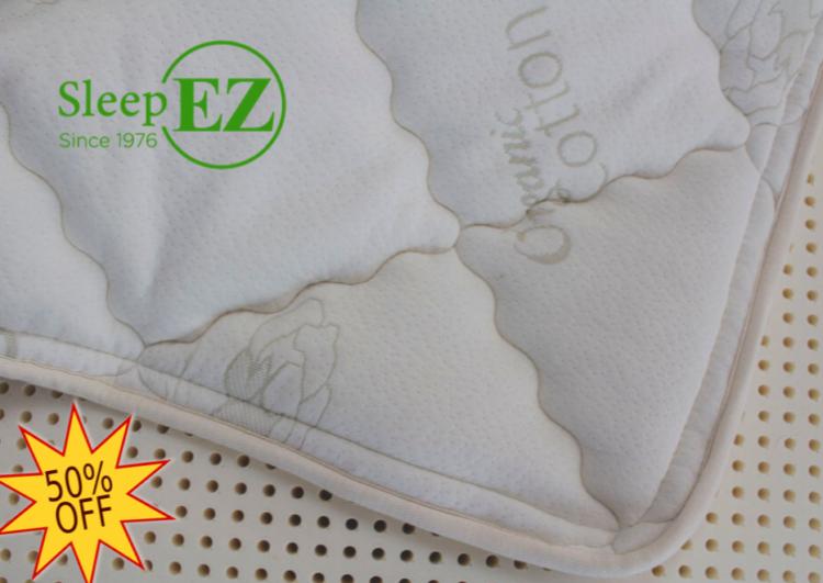 natural cotton & wool zippered mattress cover