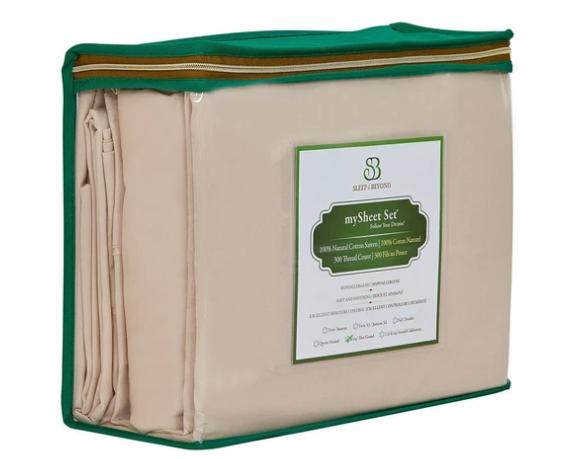 natural sateen cotton sheets