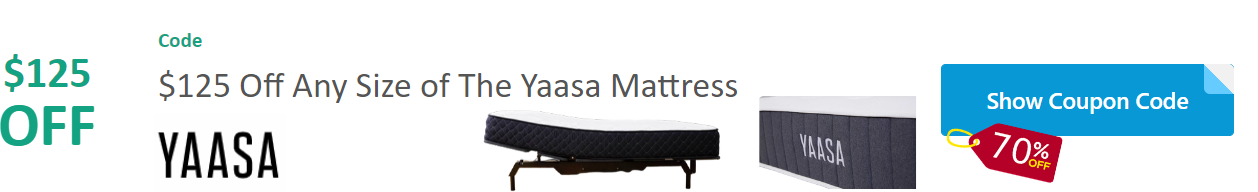 $125 Off Yaasa Mattress Discount