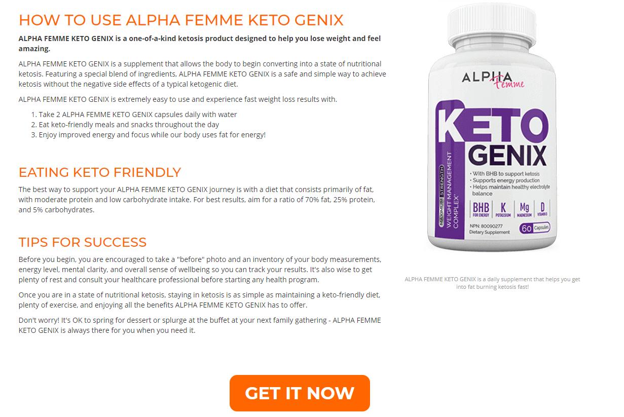 alpha femme keto