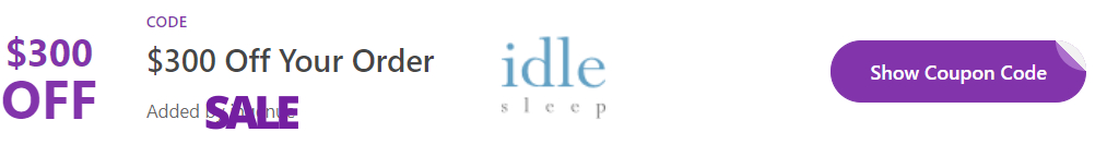 idle sleep coupon code
