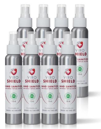 viroshield hand sanitizer 8 pack