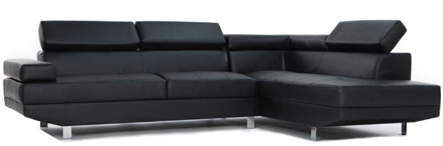 albert modern bonded leather sectional
