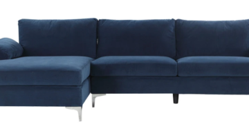 amanda modern velvet large sectional sofa