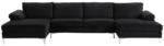 amanda xl modern velvet oversized sectional sofa