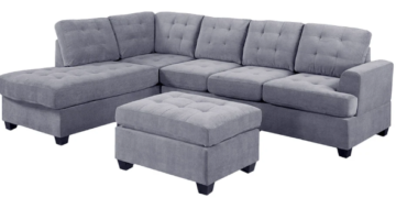 angolo 2 classic 2 piece sectional and ottoman set