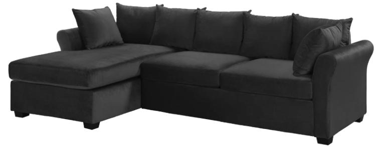 arendal classic victorian inspired velvet sectional sofa