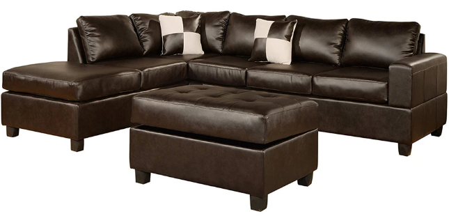 cruce modern bonded leather sectional