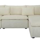 fitz contemporary low profile lounge sofa