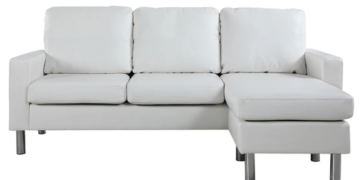 metro modern reversible small leather sectional