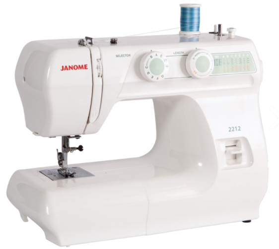 janome 2212 12 stitch full size free arm sewing machine