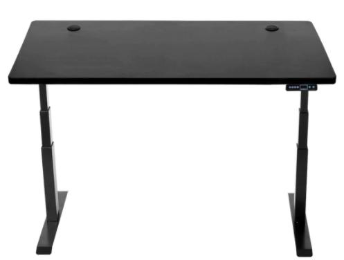 black adjustable height desk