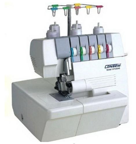 consew 14tu2345 portable coverlock thread machine