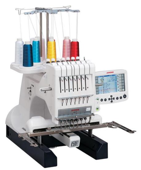 janome mb 7 seven needle embroidery machine