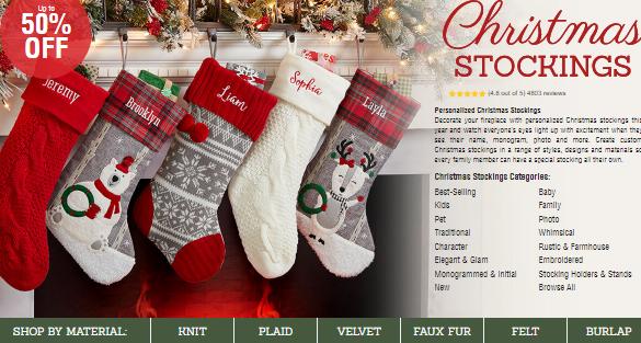 personalization mall stockings