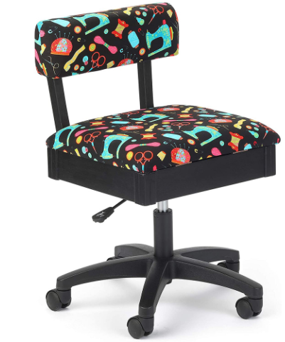 arrow h7013b adjustable height hydraulic sewing and craft chair