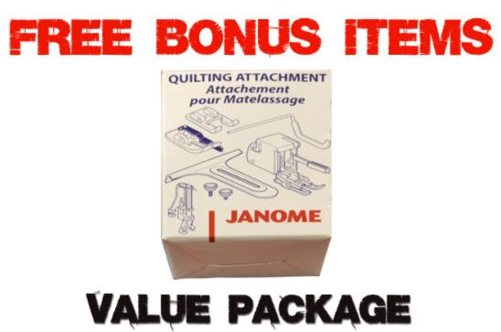 janome 4120qdc t bonus package