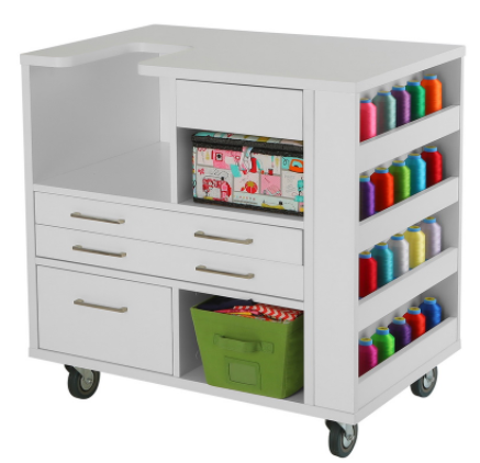 arrow ava embroidery cabinet white