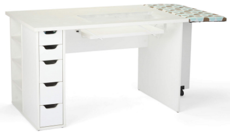 arrow ginger sewing cabinet white