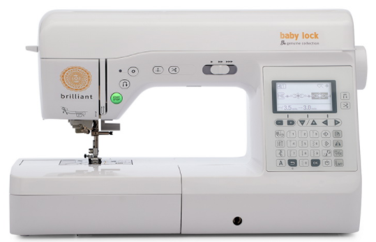 baby lock brilliant sewing machine from the genuine collection