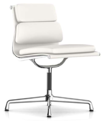 eames soft pad armless side chair
