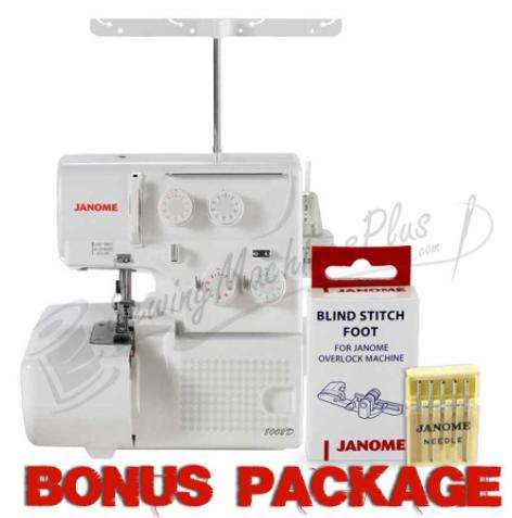 janome 8002d serger with exclusive bonus bundle
