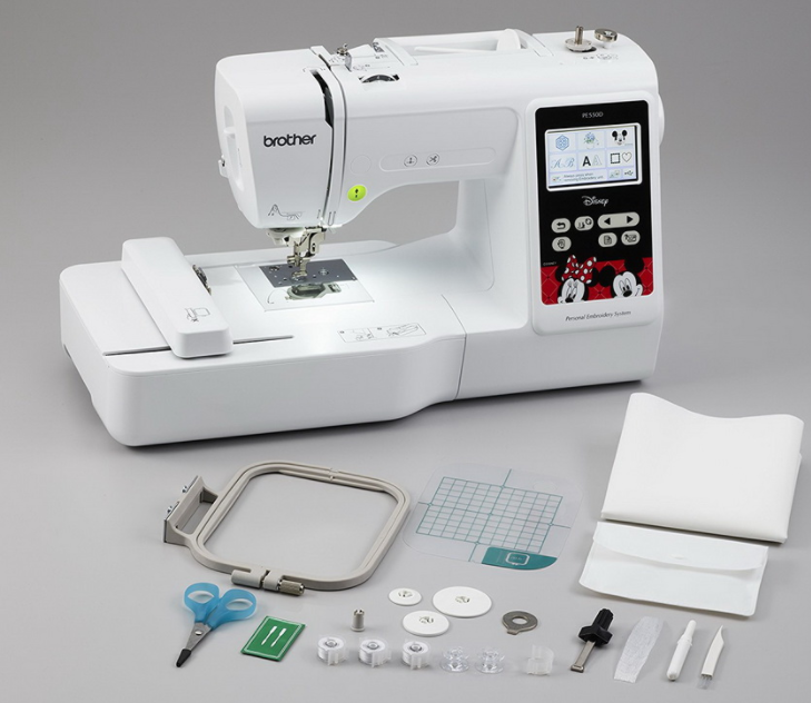 brother pe550d embroidery machine with built in disney designs