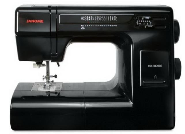janome hd3000be heavy duty sewing machine