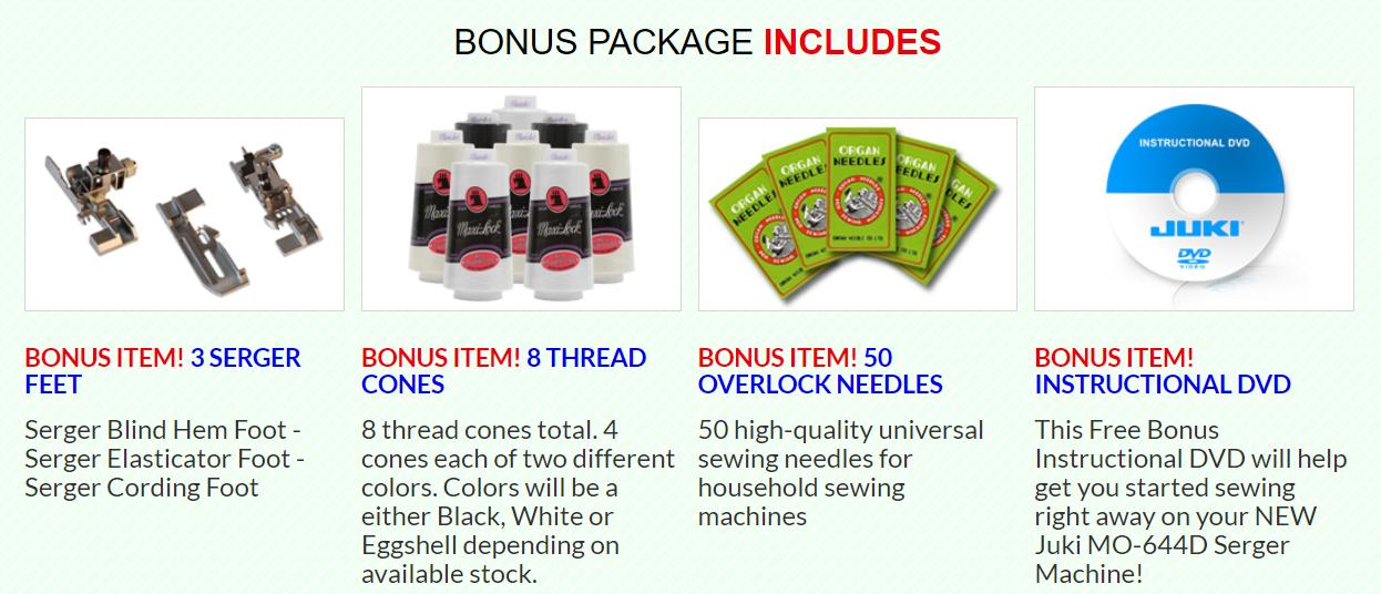 juki mo 644d serger 2 3 4 thread bonus package