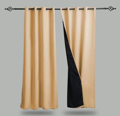 100% blackout window curtain panels
