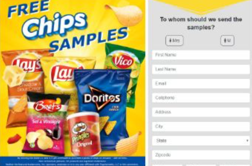 free chips samples us