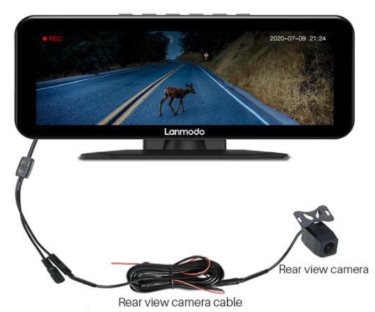 lanmodo vast pro 1080p rearview camera