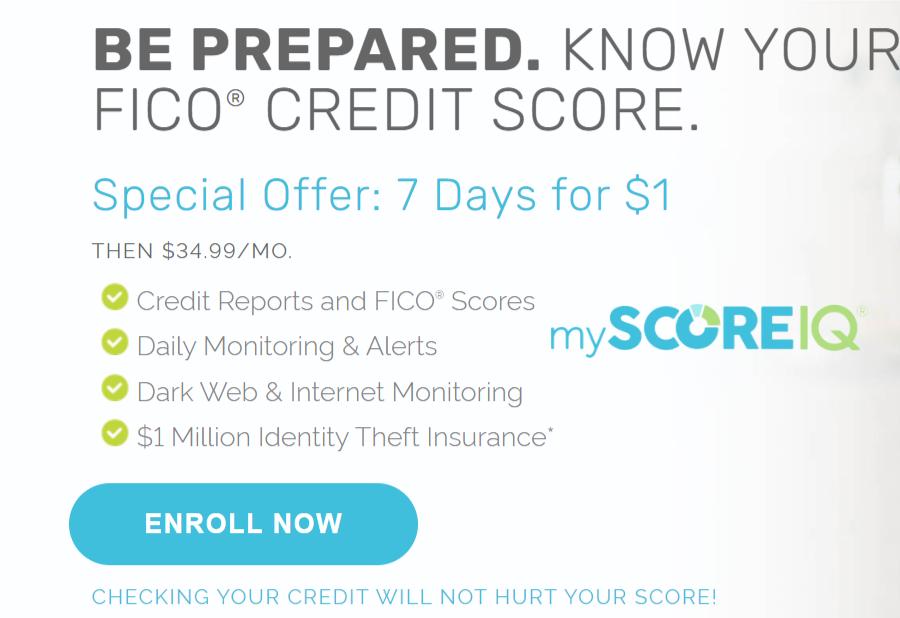 myscoreiq $1 trial