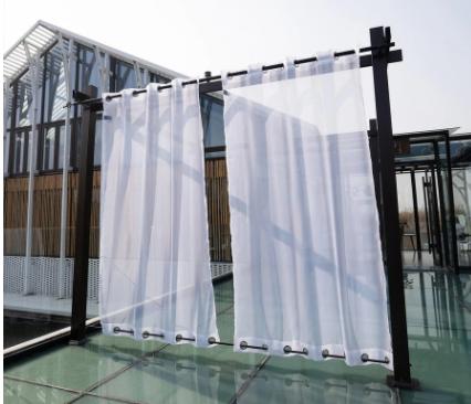 outdoor waterproof double grommet curtains sheer