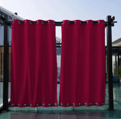 outdoor waterproof grommet top and bottom curtains