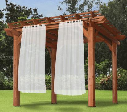 outdoor waterproof grommet top curtains sheer