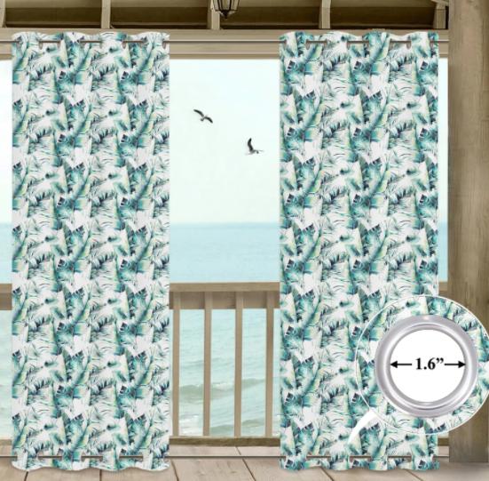 printing outdoor waterproof grommet top and bottom curtains