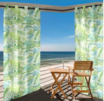 printing outdoor waterproof grommet top curtains