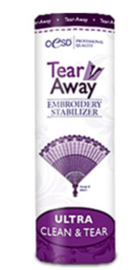 oesd tear away ultra clean and tear embroidery stabilizer