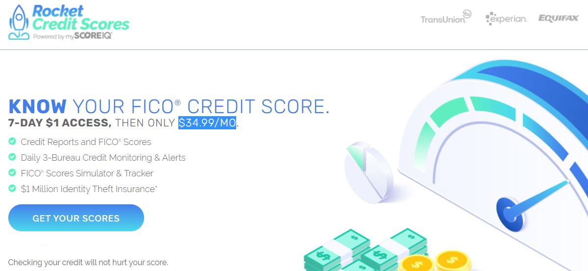 rocket credit scores $1 trial
