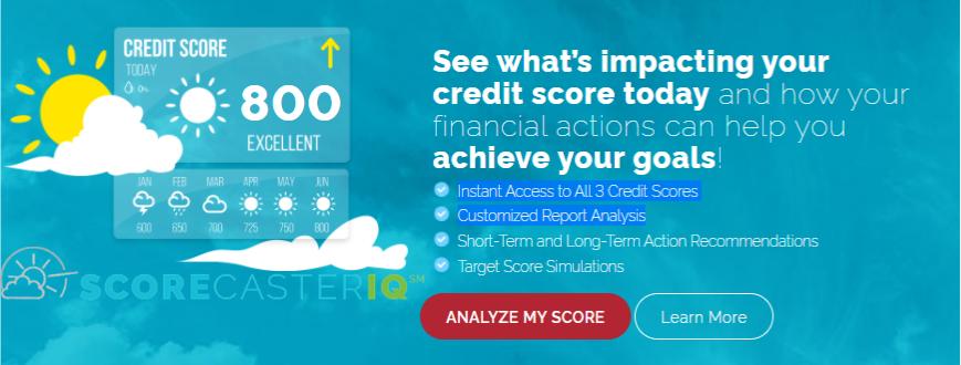 scorecasteriq credit score tool