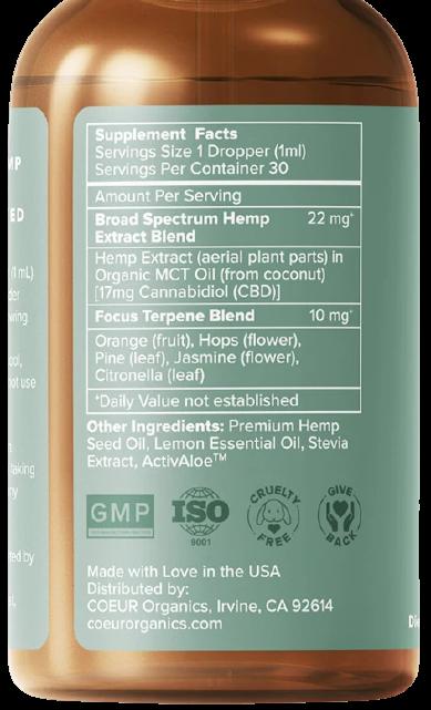 Focus CBD Oil ingredients