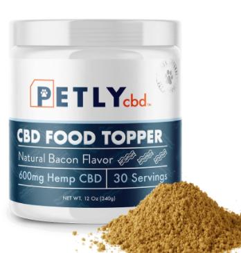 cbd dog food topper